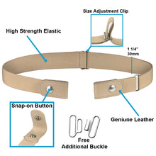 Load image into Gallery viewer, Falari No Buckle Stretch Belt for Women Elastic Waist Invisible Belt for Jeans/Pants Super Comfortable
