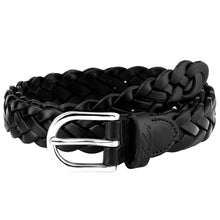 Load image into Gallery viewer, Falari Women's Leather Braided Belt 6007