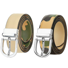 Load image into Gallery viewer, Falari Women Reversible Genuine Leather Belt