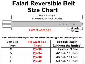 Falari Women Reversible Genuine Leather Belt