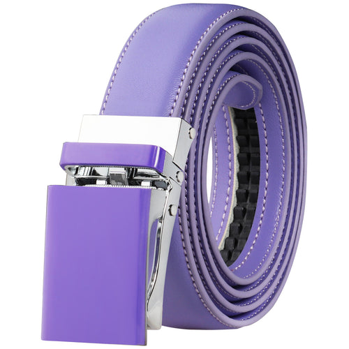Automatic Ratchet Belt for Women Kids Boys and Girls Genuine Leather Belt - Trim to Fit