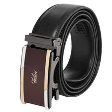 Load image into Gallery viewer, Falari Genuine Leather Dress Ratchet Belt Automatic Buckle Holeless Adjustable Size 7002