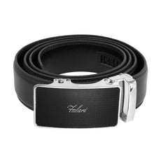 Load image into Gallery viewer, Falari Genuine Leather Dress Ratchet Belt Automatic Buckle Holeless Adjustable Size 7003