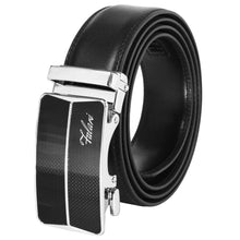 Load image into Gallery viewer, Falari Genuine Leather Dress Ratchet Belt Automatic Buckle Holeless Adjustable Size 7004