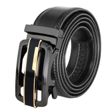 Load image into Gallery viewer, Falari Genuine Leather Dress Ratchet Belt Automatic Buckle Holeless Adjustable Size 7006