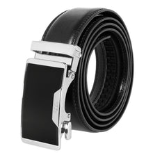 Load image into Gallery viewer, Falari Genuine Leather Dress Ratchet Belt Automatic Buckle Holeless Adjustable Size 7009
