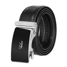 Load image into Gallery viewer, Falari Genuine Leather Dress Ratchet Belt Automatic Buckle Holeless Adjustable Size 7010