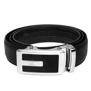 Falari Genuine Leather Dress Ratchet Belt Automatic Buckle Holeless Adjustable Size 7013