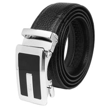 Load image into Gallery viewer, Falari Genuine Leather Dress Ratchet Belt Automatic Buckle Holeless Adjustable Size 7013