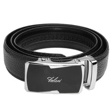 Load image into Gallery viewer, Falari Genuine Leather Dress Ratchet Belt Automatic Buckle Holeless Adjustable Size 7015