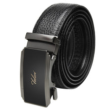 Load image into Gallery viewer, Falari Genuine Leather Dress Ratchet Belt Automatic Buckle Holeless Adjustable Size 7020