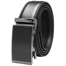 Load image into Gallery viewer, Falari Genuine Leather Dress Ratchet Belt Automatic Buckle Holeless Adjustable Size 7025