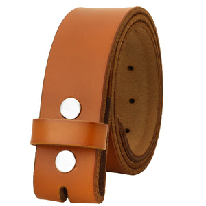 "Falari Replacement Genuine Leather Belt Strap 1.5"" Wide"