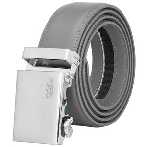 Falari Men Unisex Genuine Leather Ratchet Dress Belt Automatic Sliding Buckle