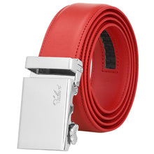 Load image into Gallery viewer, Falari Men Unisex Genuine Leather Ratchet Dress Belt Automatic Sliding Buckle