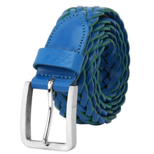 Load image into Gallery viewer, Men's Leather Braided Belt Stainless Steel Buckle 35mm 9007