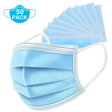 Load image into Gallery viewer, 50 Pcs Disposable Earloop Face Masks, 3-Ply For Personal Health Virus Protection