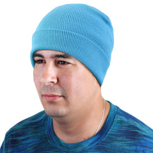 Load image into Gallery viewer, Knitted Beanie Hat - Turquoise