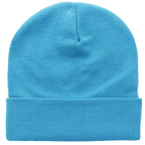 Knitted Beanie Hat - Turquoise