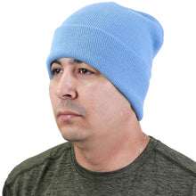 Load image into Gallery viewer, Knitted Beanie Hat - Sky Blue
