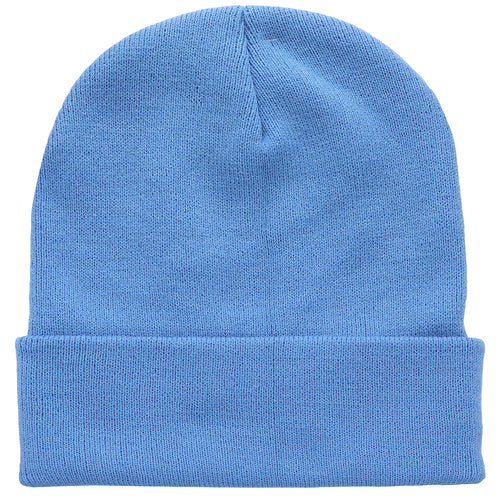 Knitted Beanie Hat - Sky Blue