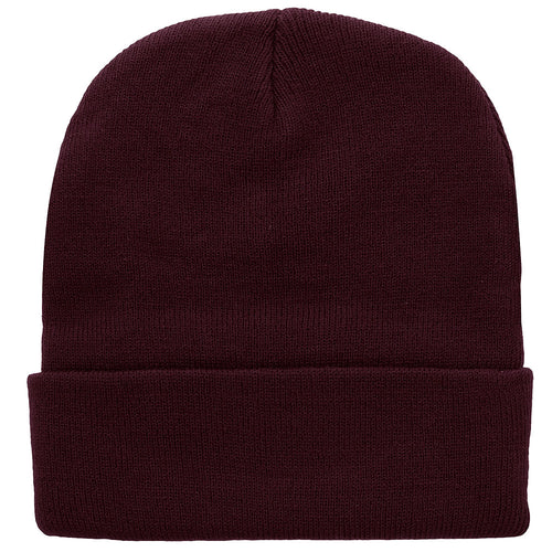 Knitted Beanie Hat - Wine