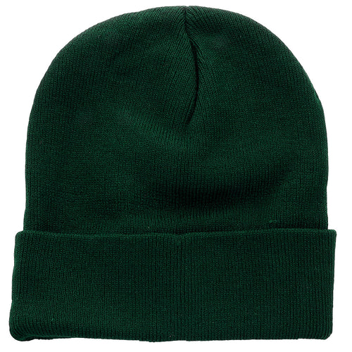 Knitted Beanie Hat - Hunter Green