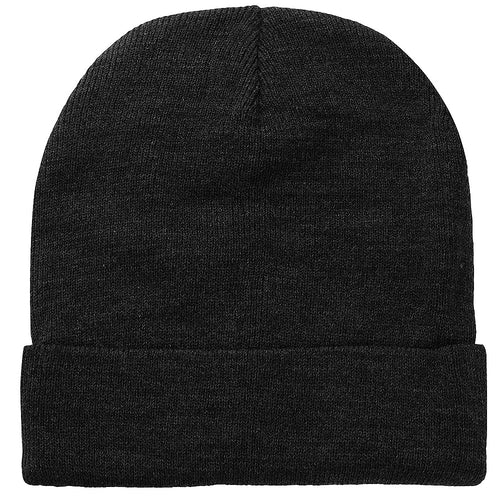 Knitted Beanie Hat - Dark Grey
