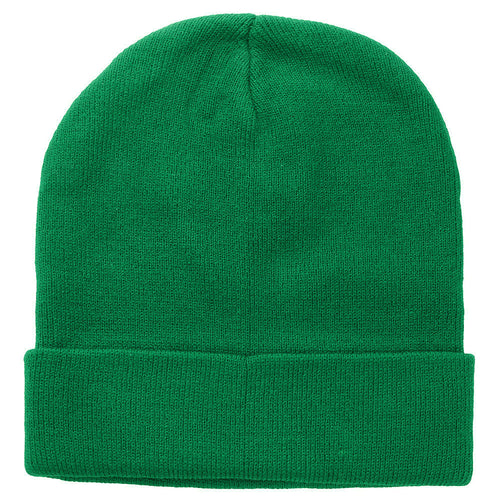 Knitted Beanie Hat - Kelly Green