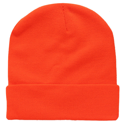 Knitted Beanie Hat - Orange
