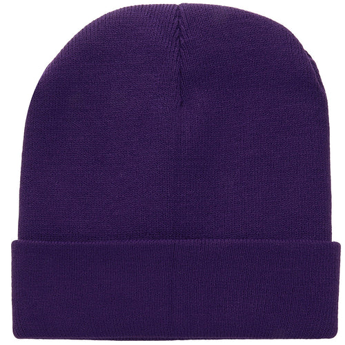 Knitted Beanie Hat - Dark Purple
