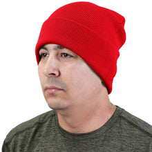 Load image into Gallery viewer, Knitted Beanie Hat - Red