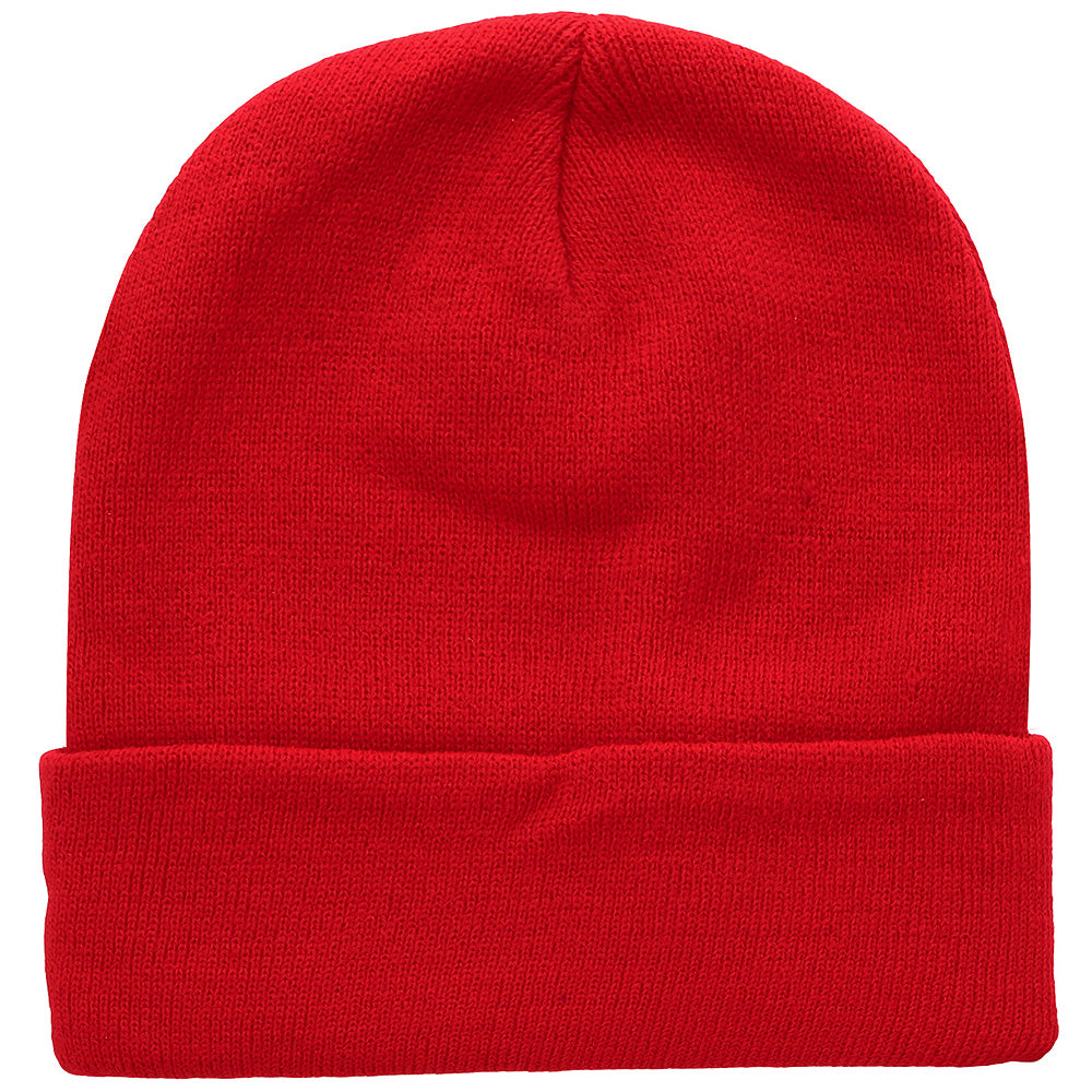 Knitted Beanie Hat - Red