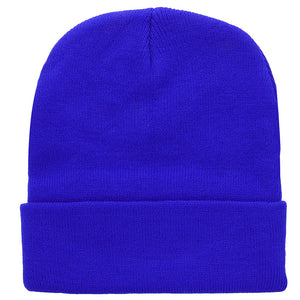 Knitted Beanie Hat - Royal Blue