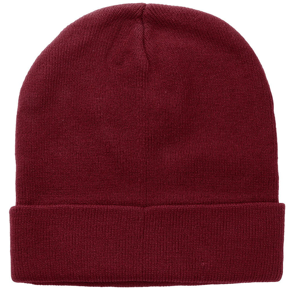 Knitted Beanie Hat - Burgundy