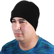 Load image into Gallery viewer, Knitted Beanie Hat - Black