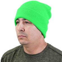 Load image into Gallery viewer, Knitted Beanie Hat - Light Green