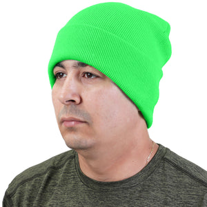 Knitted Beanie Hat - Light Green