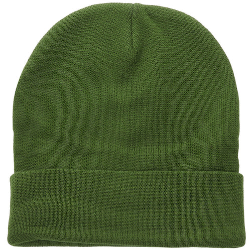 Knitted Beanie Hat - Army Green
