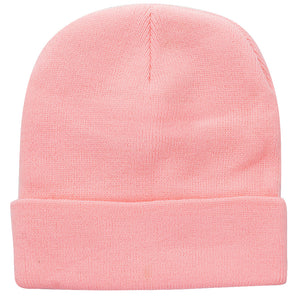 Knitted Beanie Hat - Pink