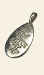 Silver Love and Family Pendant