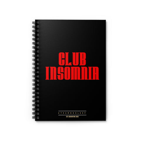 Club Insomnia Spiral Notebook - Ruled Line