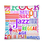 Music Lover Pillow (White) 22 X 22