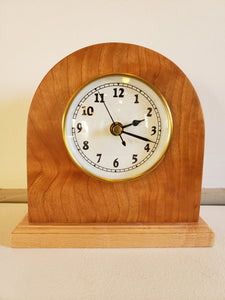 Clock - Bespoke hand crafted - Cherry and Maple Wood
