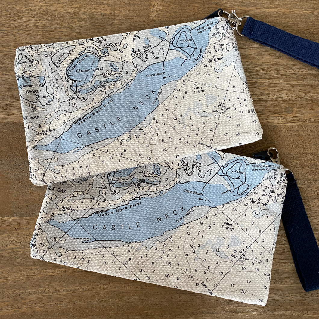 Nautical Map Wristlet