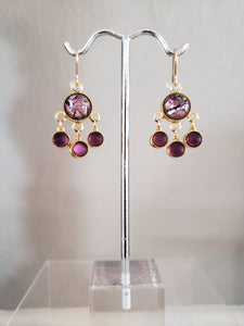 Chandelier earrings by Raelinda Woad- 2 styles - Blue and Purple