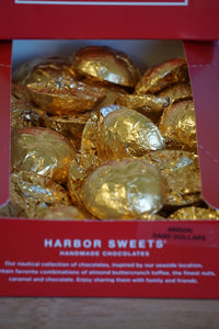 Harbor Sweets Handmade Chocolates Gold Foil Singles