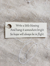 Load image into Gallery viewer, Angel wings hanging ornaments with a paper scroll for a special message