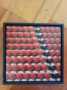 Fenway Ball Park photographs framed on wood by Sharon Schindler