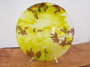 Bowl - Kiln formed glass with layered photography - by Fused Glass